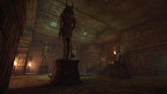 从现有截图来看,游戏利用精湛的画面成功地将古代埃及金字塔场景完美