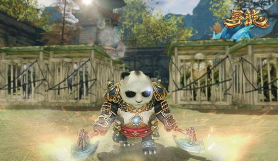 淡雅可爱的熊猫背景图片